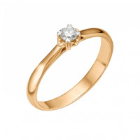 Золотое кольцо с бриллиантом ЮИК110-1015