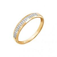 Золотое кольцо с бриллиантами ДПБР110577