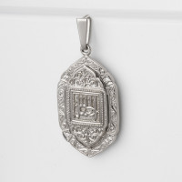 Серебряная мечеть с фианитами АБ3205121