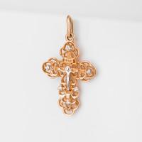 Золотой крест с фианитами 7А30511