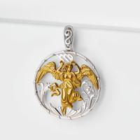 Серебряный знак зодиака «дева»