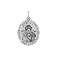 Серебряная иконка с фианитами ДИ94100213
