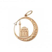 Золотая мечеть с фианитами КК132003