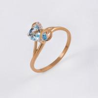 Золотое кольцо с топазами и фианитами ЮПК1341042тг