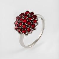 Серебряное кольцо с гранатами  ИТ12127-409-9