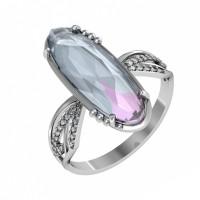 Серебряное кольцо с кварцем и фианитами ПЮ261631тл