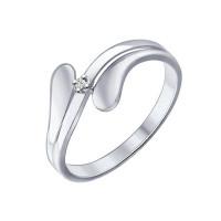 Серебряное кольцо с бриллиантом ДИ87010013