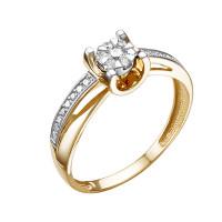 Золотое кольцо с бриллиантами ЮИК113-5697