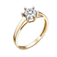 Золотое кольцо с бриллиантами ЮИК113-5698