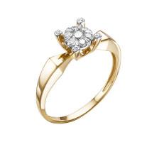 Золотое кольцо с бриллиантами ЮИК113-5699
