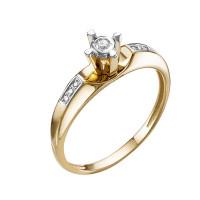 Золотое кольцо с бриллиантами ЮИК112-5688