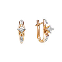 Золотые серьги с бриллиантами ЮИС112-5688