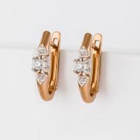 Золотые серьги с бриллиантами ЮИС112-5700