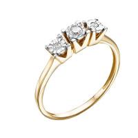 Золотое кольцо с бриллиантами ЮИК113-5690
