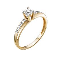 Золотое кольцо с бриллиантами ЮИК113-5691
