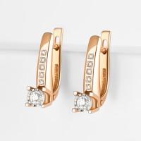 Золотые серьги с бриллиантами ЮИС113-5691