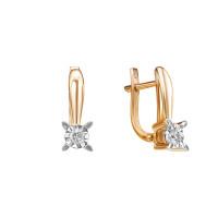 Золотые серьги с бриллиантами ЮИС113-5692