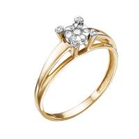 Золотое кольцо с бриллиантами ЮИК113-5696