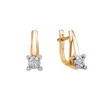 Золотые серьги с бриллиантами ЮИС113-5696