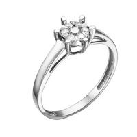 Кольцо из белого золота с бриллиантами ЮИК213-5698