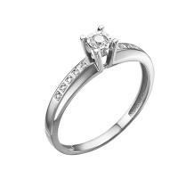 Кольцо из белого золота с бриллиантами ЮИК213-5691