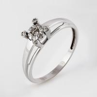 Кольцо из белого золота с бриллиантами ЮИК213-5696