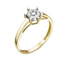Золотое кольцо с бриллиантами ЮИК313-5698