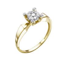 Золотое кольцо с бриллиантами ЮИК313-5699