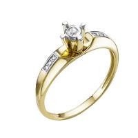 Золотое кольцо с бриллиантами ЮИК312-5688
