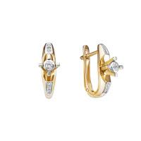Золотые серьги с бриллиантами ЮИС312-5688