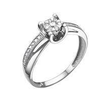 Кольцо из белого золота с бриллиантами ЮИК213-5697