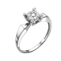 Кольцо из белого золота с бриллиантами ЮИК213-5699