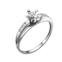 Кольцо из белого золота с бриллиантами ЮИК213-5688