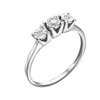 Кольцо из белого золота с бриллиантами ЮИК213-5690