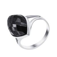 Серебряное кольцо с ониксами СЫ21002470257