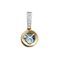 Золотой знак зодиака с топазами и фианитами ЮИП122-5661тг