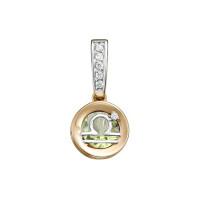 Золотой знак зодиака с аметистом и фианитами ЮИП122-5666амз