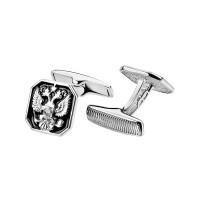 Серебряные запонки с эмалью 8С140028Р