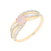 Золотое кольцо с фианитами ЮЫ2002000225921