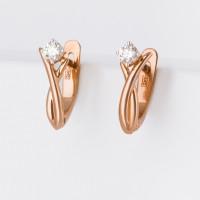 Золотые серьги с бриллиантами ХС051077421