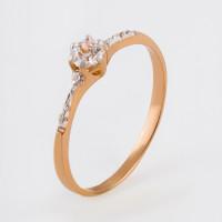 Золотое кольцо с фианитами 2БКЗ5К.1-01-0336-01