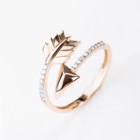 Золотое кольцо с фианитами ЖНМСЦР160040-РВ