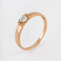 Золотое кольцо с бриллиантом ДИ1011791
