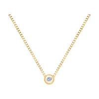 Золотое колье с бриллиантом ДИ1070046