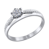 Золотое кольцо с бриллиантами ДИ1011730