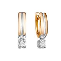 Золотые серьги с бриллиантами Якутия