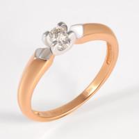 Золотое кольцо с бриллиантом ЛХ01-01087-01-001-01-01