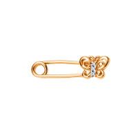 Золотая брошь с фианитами 3ВБЛ132-699