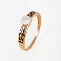 Золотое кольцо с фианитами ДП118927