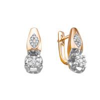 Золотые серьги с бриллиантами ЛХ02-01592-02-106-01-01